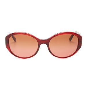 Oliver Peoples Addie burgundy sunglasses and case